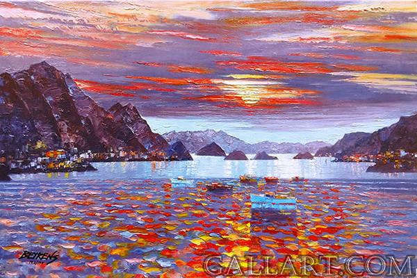 AMALFI SUNSET BY HOWARD BEHRENS
