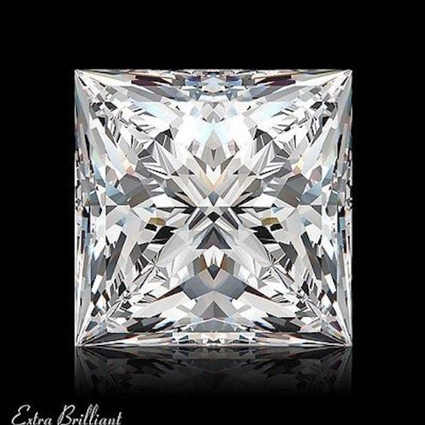 GIA Certified 2.03 Carat Princess Diamond H Color SI2 Clarity Excellent Investment