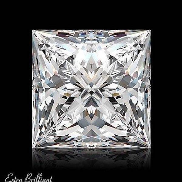 GIA Certified 2.0 Carat Princess Diamond D Color VS1 Clarity Excellent Investment