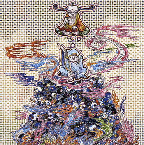 2 ARHATS MEDITATING AMID THE HELLFIRE BY TAKASHI MURAKAMI