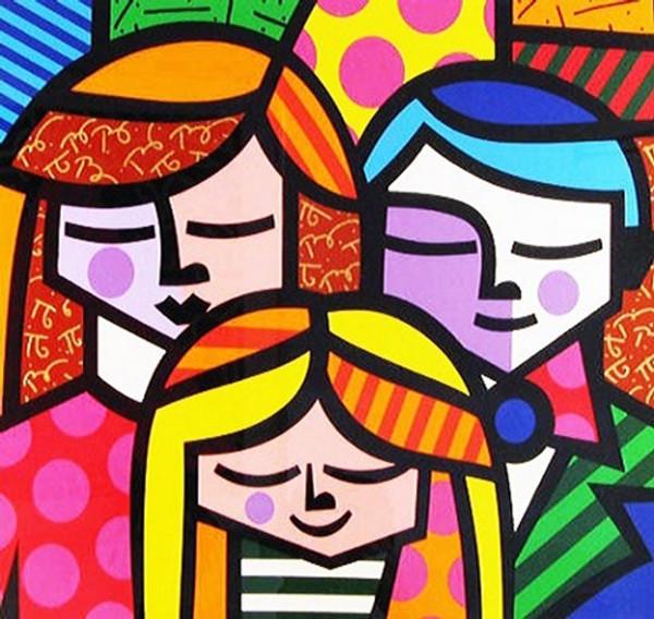 FAMILY BY ROMERO BRITTO