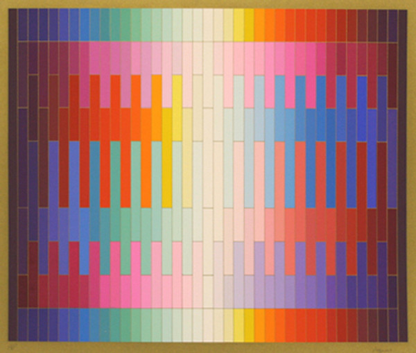 MAGIC RAINBOW II (ON GOLD) BY YAACOV AGAM
