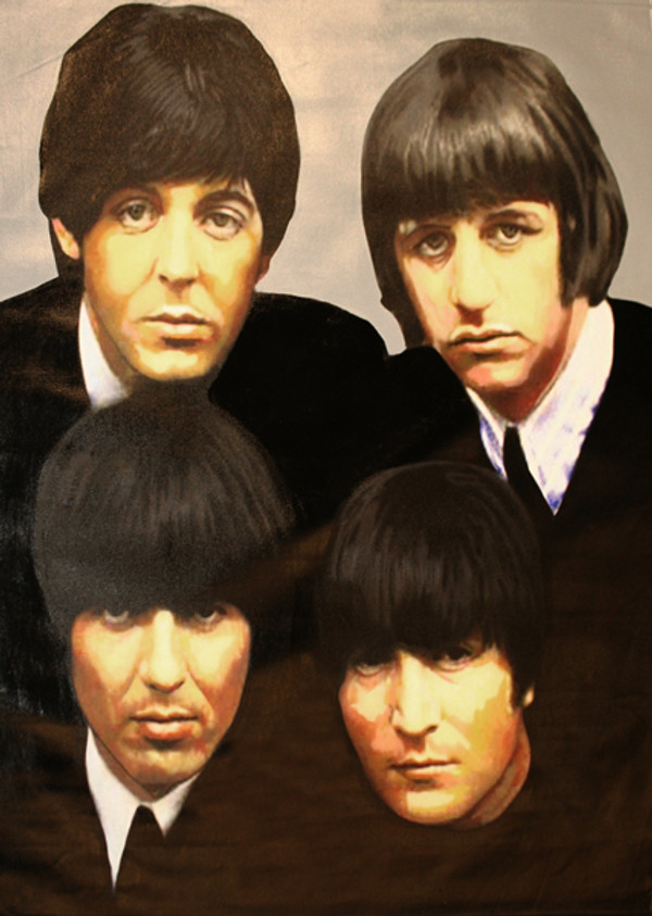THE FAB FOUR BY STEVE KAUFMAN