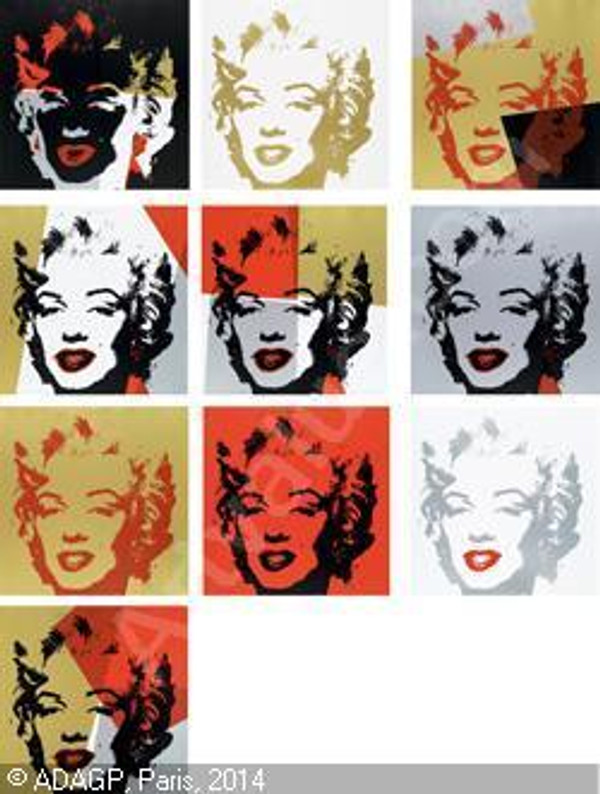 GOLDEN MARILYN (PORTFOLIO OF 10) BY ANDY WARHOL FOR SUNDAY B. MORNING