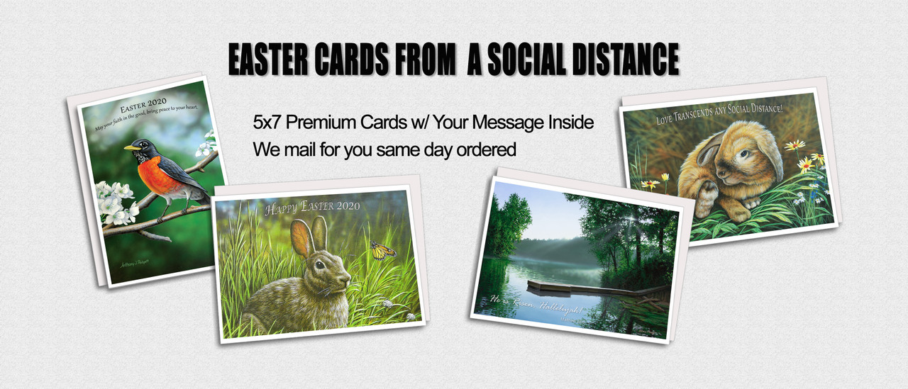 Easter Cards from a Social Distance