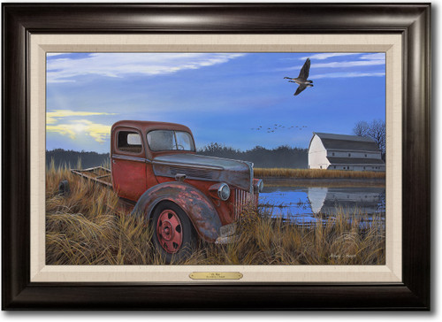 """""""Ol' Red"""" -  Framed Canvas Print with Optional Truck Door Personalization"""