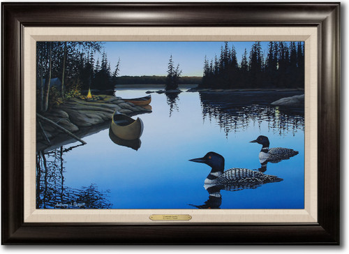 """""""Campfire Loons"""" Framed Canvas Print"""
