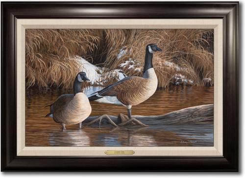 """Canadian Thaw"" Framed Canvas Print"