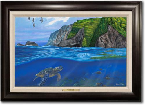 """""""Big Island Flyway"""" Framed Canvas Print"""