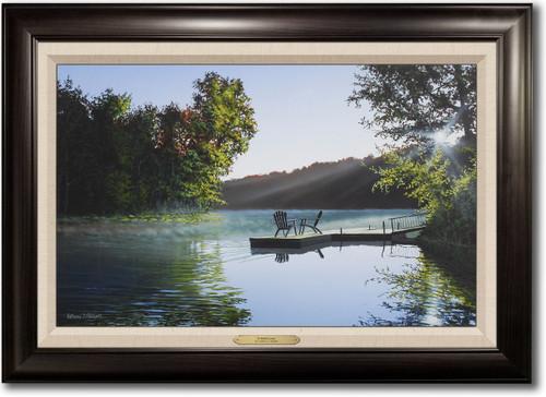 """Summer Lake"" Framed Canvas Print"