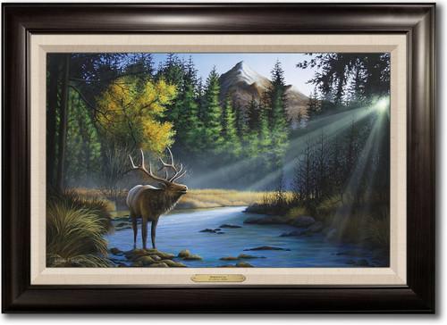 """Morning Call"" Framed Canvas Print"