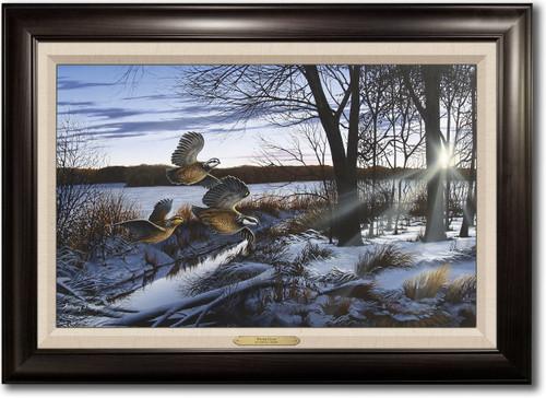 """Winter Flush"" Framed Canvas Print"