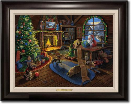 """Santa's Study"" Framed Canvas Print"