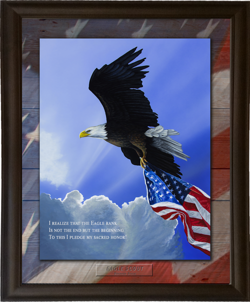 """Eagle Scout - 11""""x14"""", Personalized, Framed Print"""