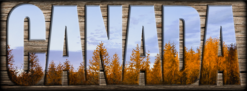 """""""CANADA"""" Sign - Autumn Front"""