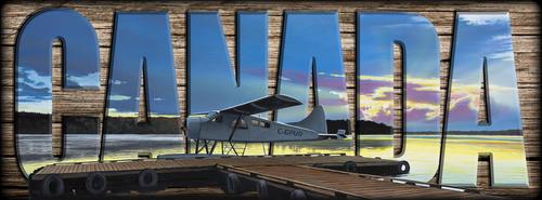 """CANADA"" Sign - Clark's Air Service - Plane"