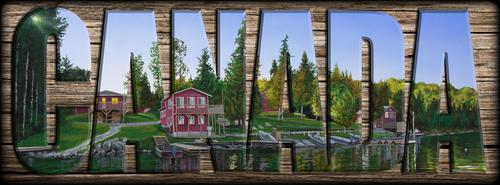 """""""CANADA"""" Sign - Rocky Shore Lodge"""