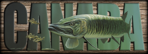 """""""CANADA"""" Sign - The Hunter - Musky"""