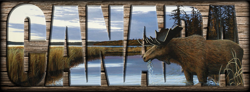"""CANADA"" Sign - Early Flight - Moose"