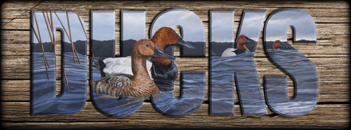 DUCKS -  Canvasbacks - Miniature Shelf Sign