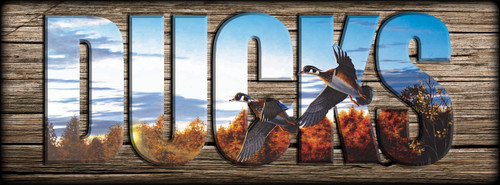 "DUCKS -  Wood Ducks from ""Autumn Home"" - Miniature Shelf Sign"
