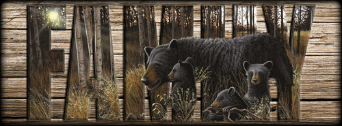 """FAMILY"" Sign - Summer Bounty - Bears"