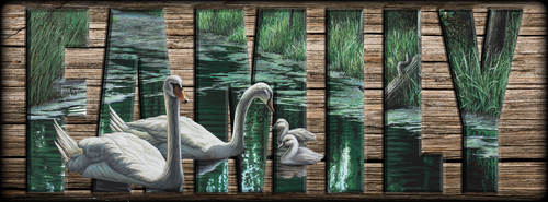 """""""FAMILY"""" Sign - A Day Out - Swans"""