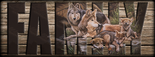 """""""FAMILY"""" Sign - Freedom's First Family - Wolves"""