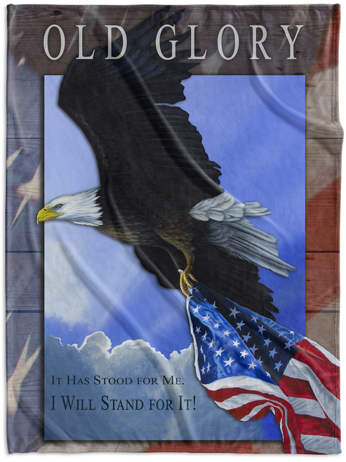 """Make a patriotic statement with this oversized 60""""x80"""" Fleece Blanket featuring the painting featuring """"Our Glory"""" by Anthony J. Padgett."""