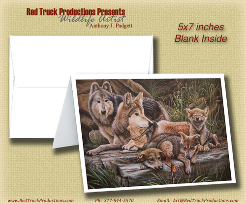 """5x7 Notecard- """"Freedom's First Family"""""""