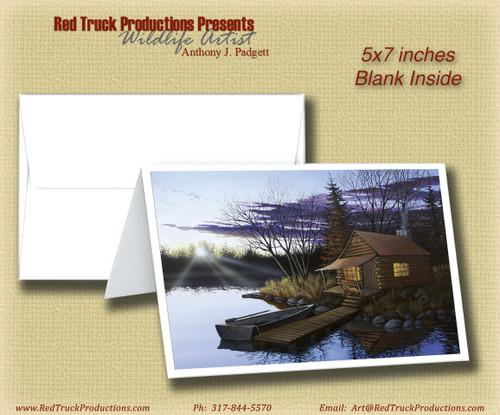 """5x7 Notecard- """"Hunters Cabin"""""""