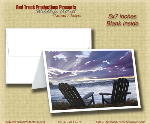 """5x7 Notecard- """"Our Ocean View"""""""
