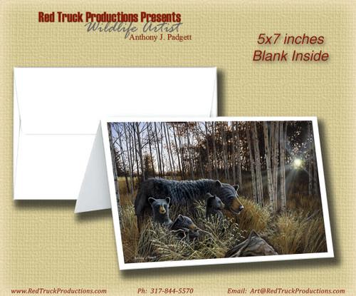 "5x7 Notecard- ""Summer Bounty"" - Bears"