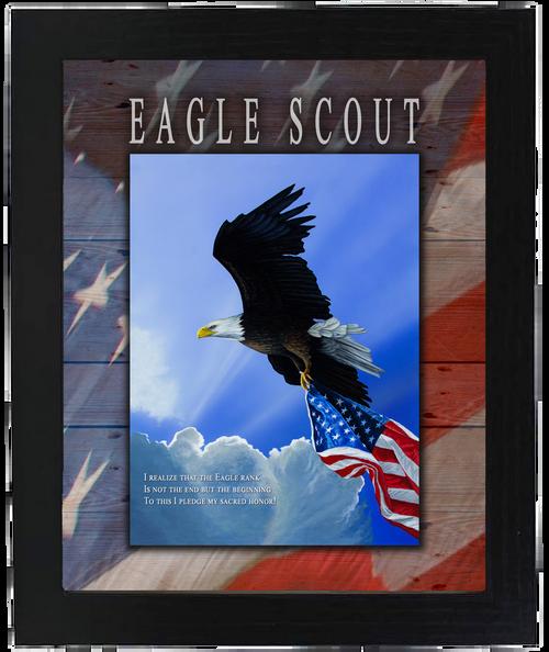 "Eagle Scout - 8""x10"", Framed Print"