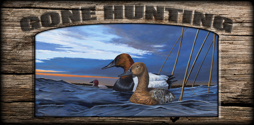 """Gone Hunting"" Sign - After the Storm - Canvasbacks"