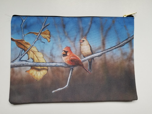 Accessory Bag- Cardinal On Watch - Two of a Pair - Cardinals