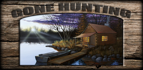 """""""Gone Hunting"""" Sign - Hunters Cabin"""