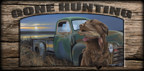 """""""Gone Hunting"""" Sign - Training Grounds"""