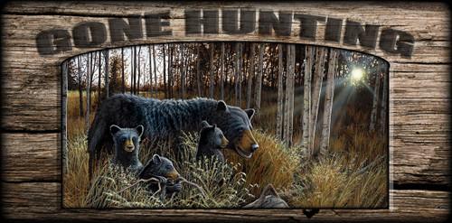 """Gone Hunting"" Sign - Summer Bounty - Bears"
