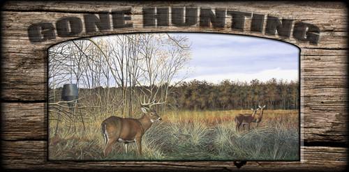 """Gone Hunting"" Sign - Mid Day Snack - Deer"