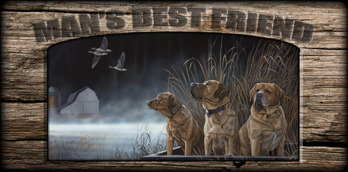 """""""Man's  Best Friend"""" Sign - Brothers in Arms - Yellow Lab"""