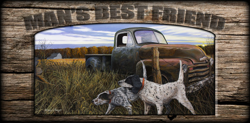 """Man's  Best Friend"" Sign - English Prairie - English Setter"