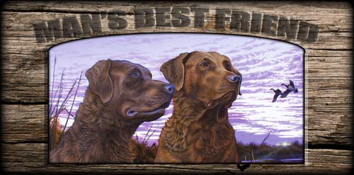 """""""Man's  Best Friend"""" Sign - Ragen and Sady - Chessie"""
