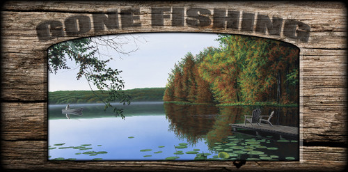 """Gone Fishing"" Sign - My Summer Place"