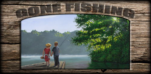 """Gone Fishing"" Sign - Let's Go Fishing"