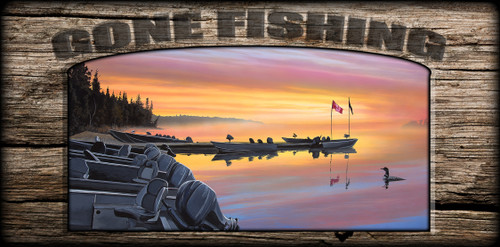 """Gone Fishing"" Sign - Canadian Dawn"