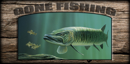 """Gone Fishing"" Sign - The Hunter - Musky"