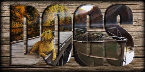 """DOGS"" Sign - Pre Season - Yellow Lab"
