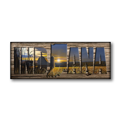 """""""INDIANA"""" Sign - Sunset Crossing - Barn"""