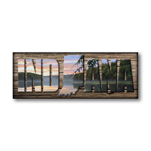 """INDIANA"" Sign - Serene Retreat"